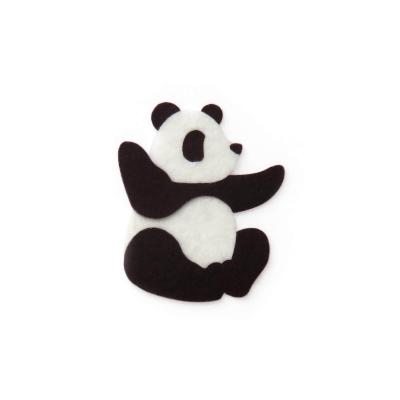 おしゃれなフェルトのパンダのアップリケ(ワッペン)