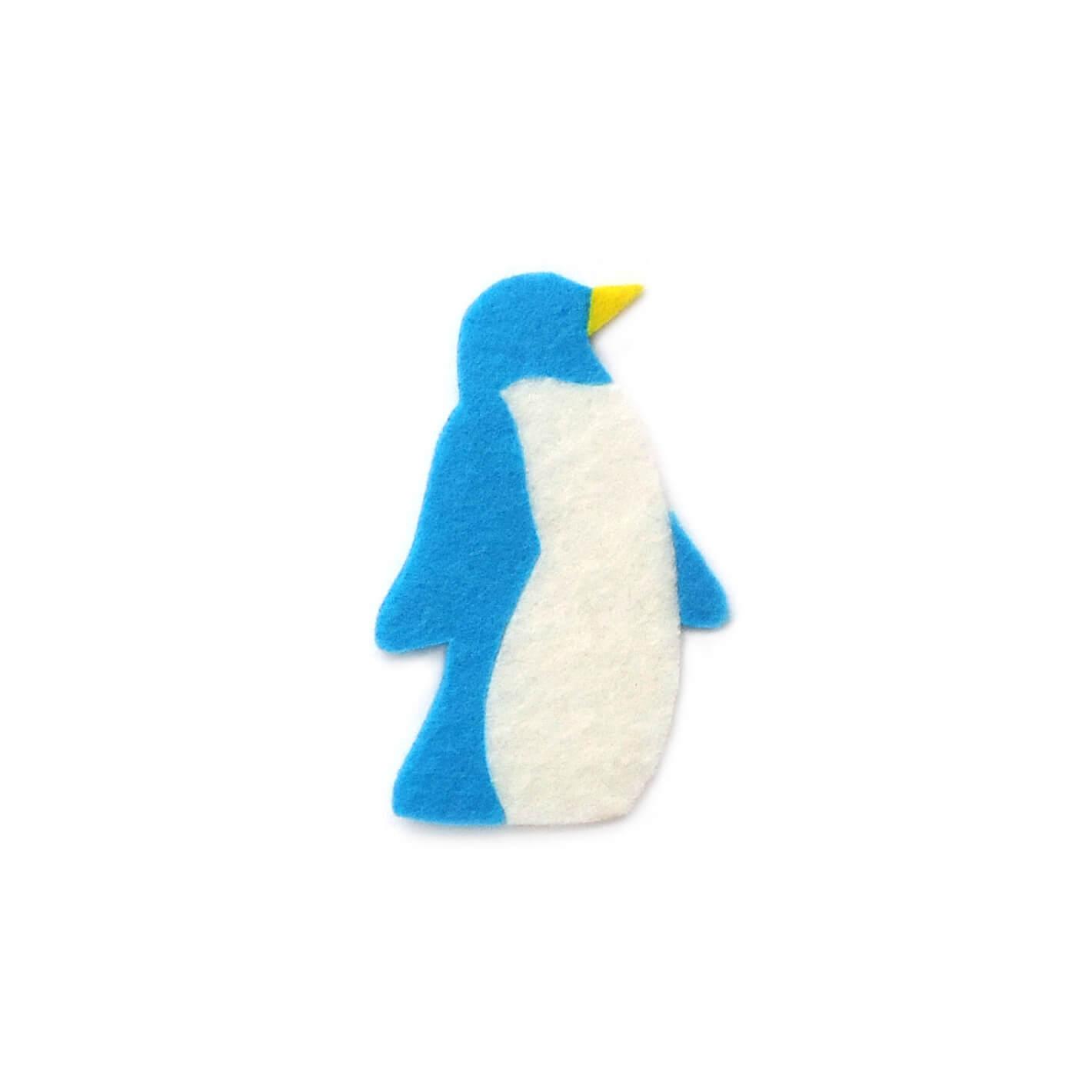おしゃれなフェルトのペンギンのアップリケ(ワッペン)