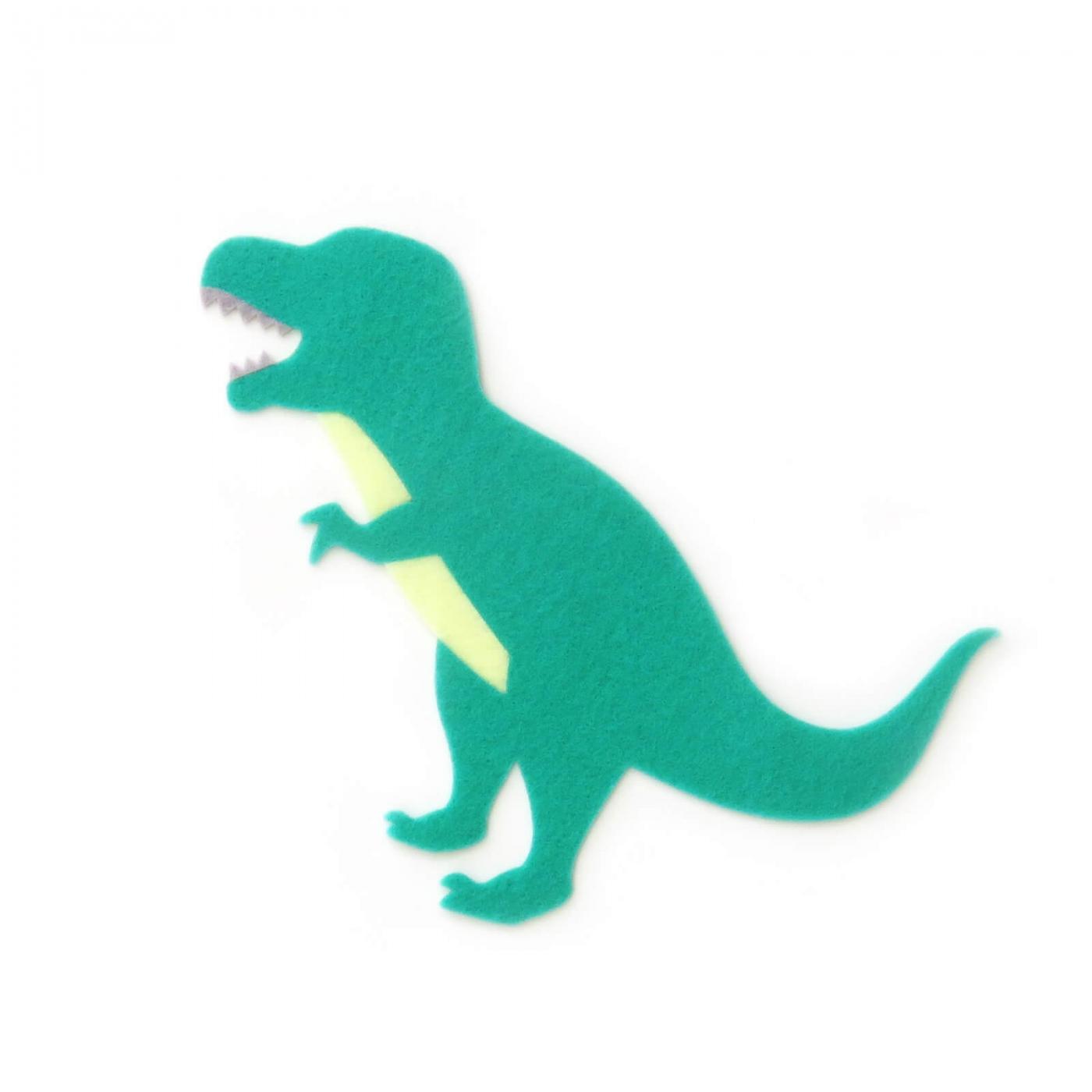 おしゃれなフェルトの恐竜のアップリケ(ワッペン)