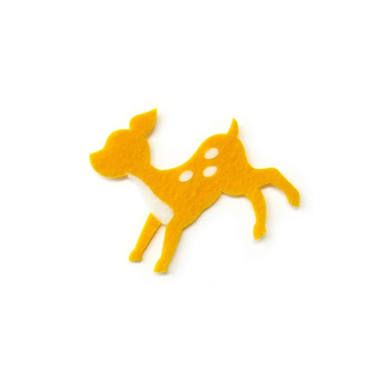 おしゃれなフェルトの子鹿のアップリケ(ワッペン)