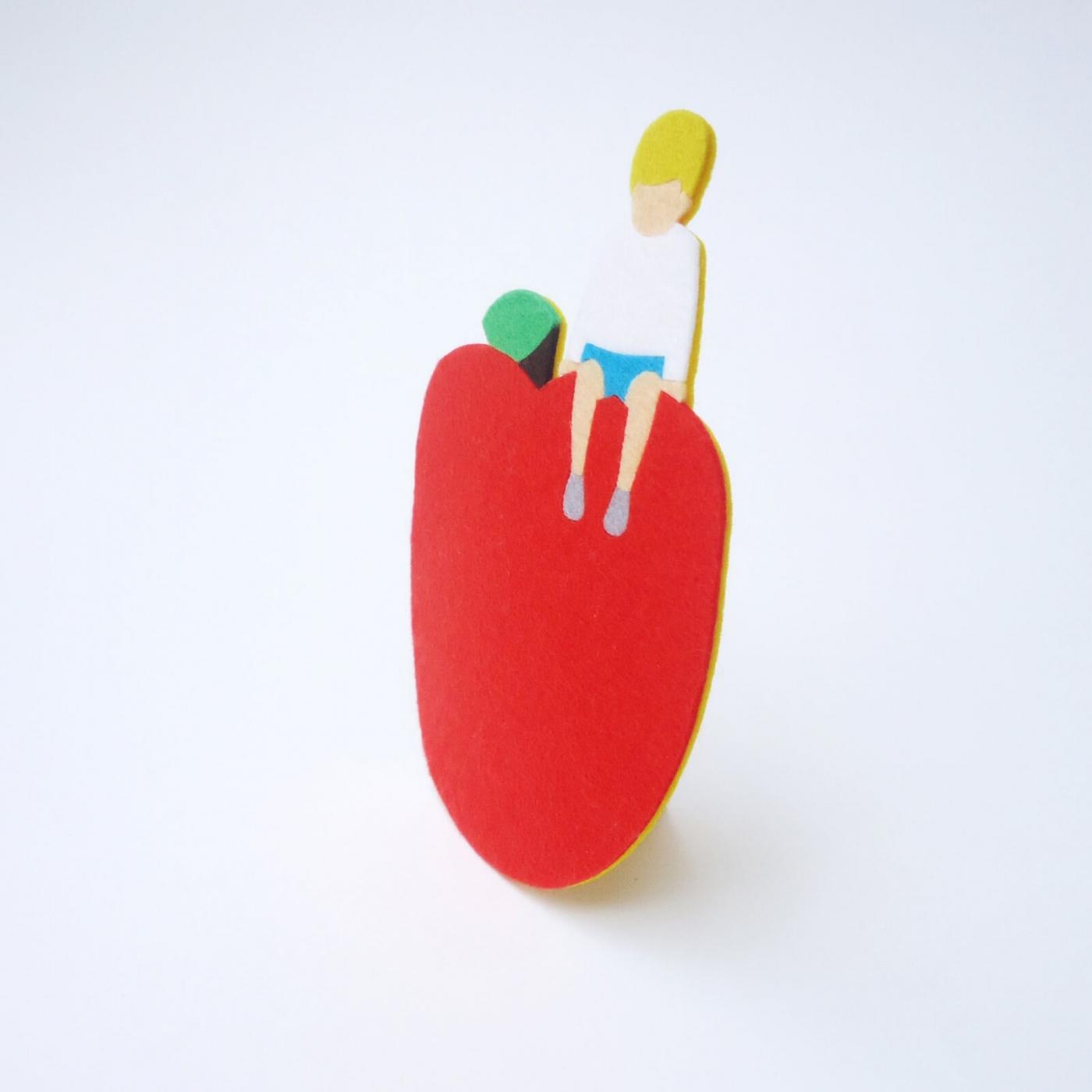 りんごのフェルトコースター