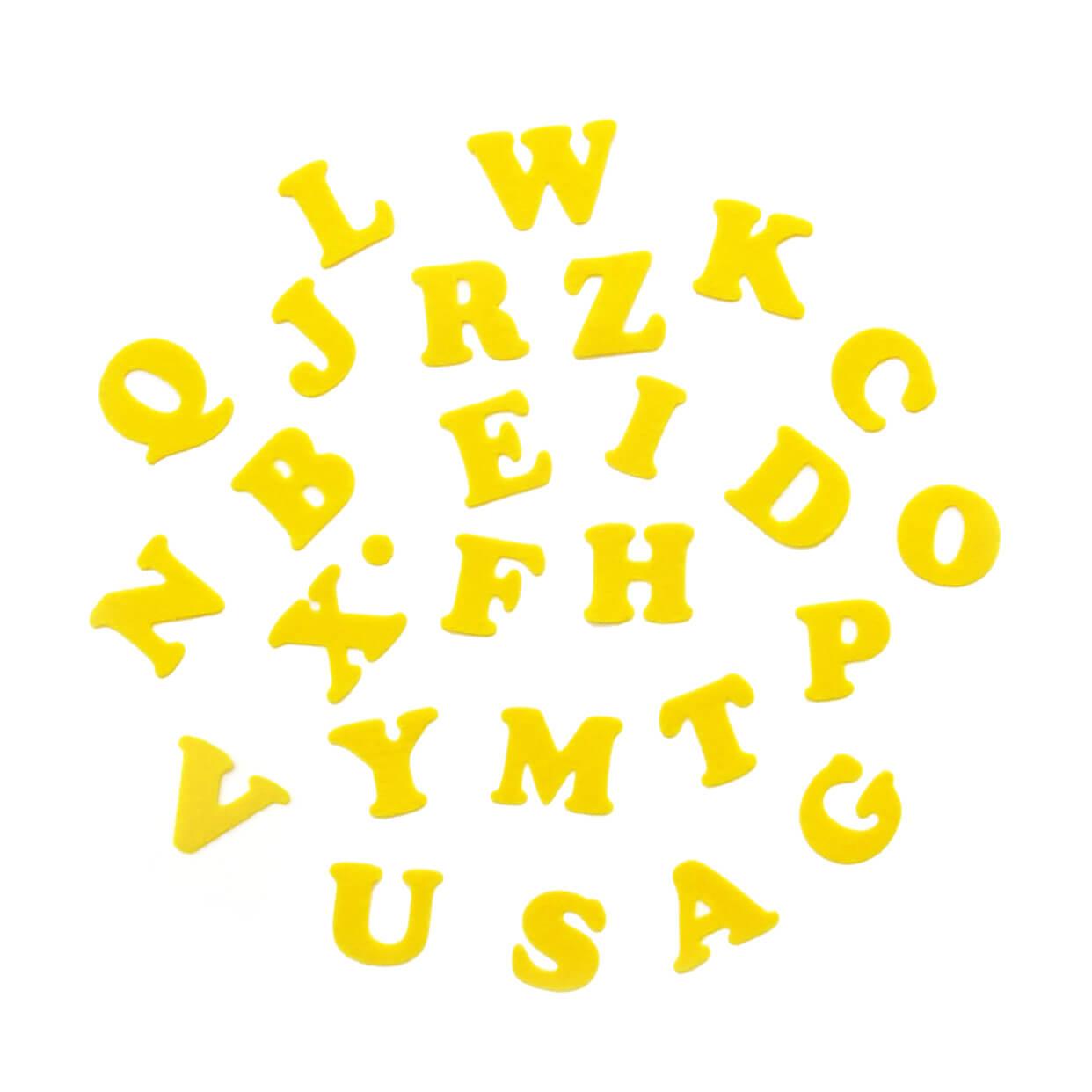 おしゃれなアルファベットのアップリケ(ワッペン)